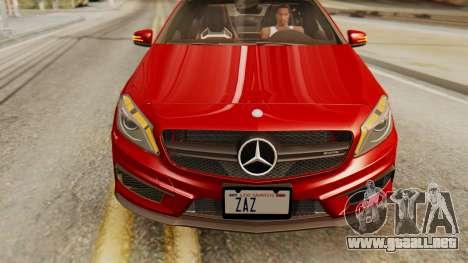 Mercedes-Benz A45 AMG 2012 para la visión correcta GTA San Andreas