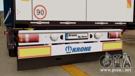 Trailer Krone Profiliner v1 para GTA San Andreas vista hacia atrás
