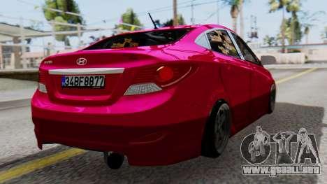 Hyundai Accent Blue para GTA San Andreas left