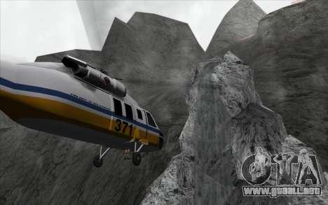 La cascada de v0.1 Beta para GTA San Andreas segunda pantalla