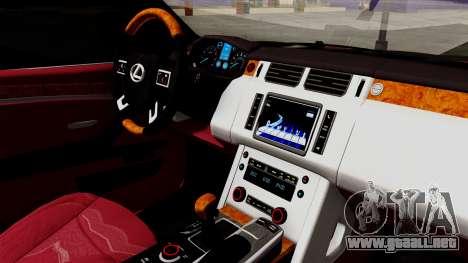 Lexus GX460 2014 v2 para la visión correcta GTA San Andreas