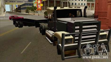 Flat Trailer para GTA San Andreas vista posterior izquierda
