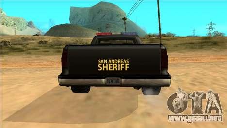 New Yosemite Police v2 para la vista superior GTA San Andreas