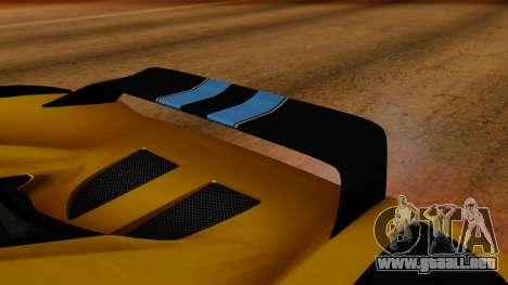 Koenigsegg Agera 2011 para visión interna GTA San Andreas
