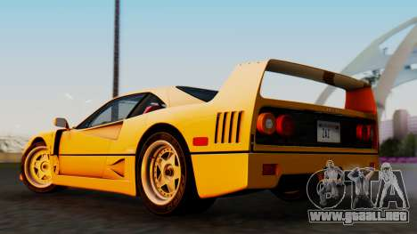 Ferrari F40 1987 without Up Lights para GTA San Andreas left