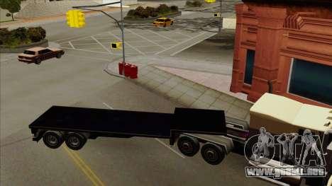Flat Trailer para GTA San Andreas left