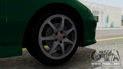 Acura Integra Fast and Furious para GTA San Andreas vista posterior izquierda