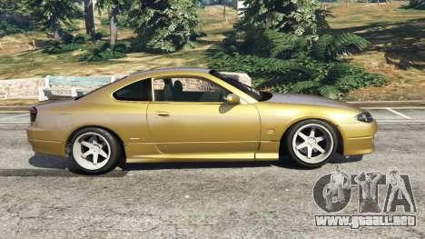 GTA 5 Nissan Silvia S15 (Wide & Camber) v0.1 vista lateral izquierda