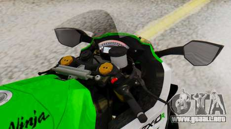Kawasaki ZX-10R 2015 30th Anniversary Edition para la visión correcta GTA San Andreas