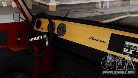 Dacia 1100 Sport para la visión correcta GTA San Andreas