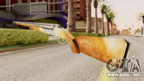 La versión completa de doble escopetas para GTA San Andreas segunda pantalla