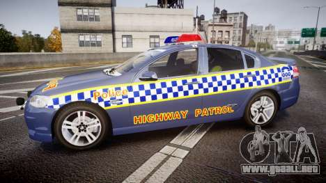 Holden VE Commodore SS Highway Patrol [ELS] v2.1 para GTA 4 left