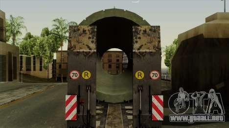 Trailer Cargos ETS2 New v3 para GTA San Andreas vista hacia atrás