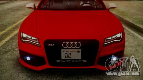 Audi RS7 2014 para GTA San Andreas interior
