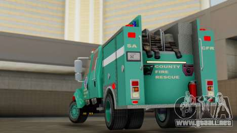 SACFR International Type 3 Rescue Engine para GTA San Andreas left