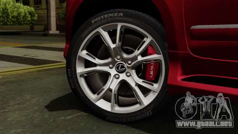 Lexus GX460 2014 v2 para GTA San Andreas vista posterior izquierda