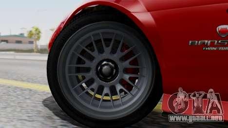 GTA 5 Banshee Dirt para GTA San Andreas vista posterior izquierda