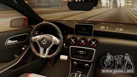 Mercedes-Benz A45 AMG 2012 para visión interna GTA San Andreas