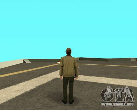 La nueva piel de los policías a cabo LVPD para GTA San Andreas segunda pantalla