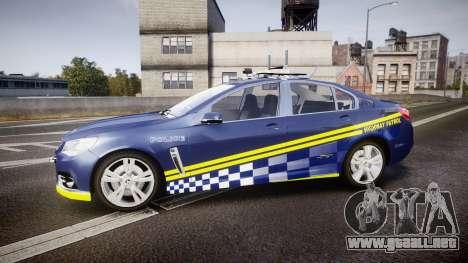 Holden VF Commodore SS Highway Patrol [ELS] v2.0 para GTA 4 left