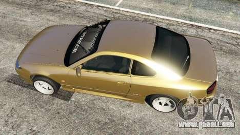 GTA 5 Nissan Silvia S15 (Wide & Camber) v0.1 vista trasera