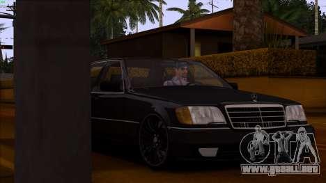 Mercedes-Benz S600 W140 para la vista superior GTA San Andreas