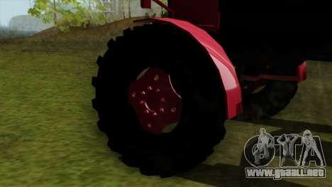 Tractor MTZ80 para GTA San Andreas vista posterior izquierda