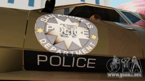 Elegy Police Edition para GTA San Andreas vista posterior izquierda