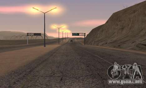 Las luces de San Fierro, Las Venturas para GTA San Andreas quinta pantalla