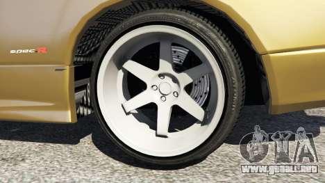 GTA 5 Nissan Silvia S15 (Wide & Camber) v0.1 vista lateral trasera derecha