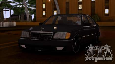 Mercedes-Benz S600 W140 para vista lateral GTA San Andreas