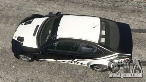 GTA 5 BMW M3 GTR E46 white on black vista trasera
