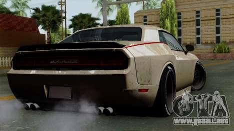 Dodge Challenger GT S para GTA San Andreas left