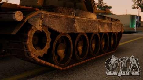 T-55AM Merida para GTA San Andreas vista posterior izquierda