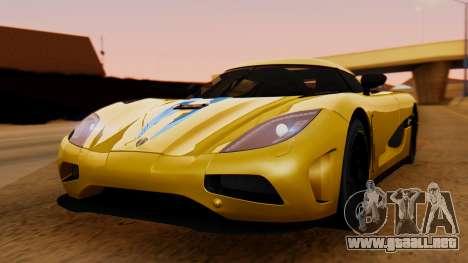 Koenigsegg Agera 2011 para GTA San Andreas