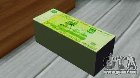 3000 Rublos para GTA San Andreas tercera pantalla