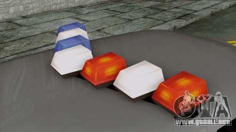 Indonesian Police Type 1 para GTA San Andreas vista hacia atrás