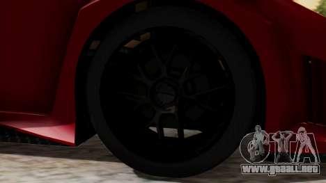 Lamborghini Gallardo J Style para GTA San Andreas vista posterior izquierda