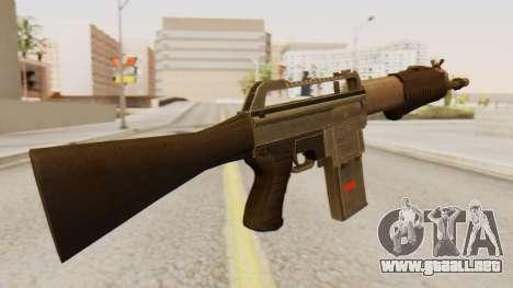 SPAS 15 para GTA San Andreas segunda pantalla