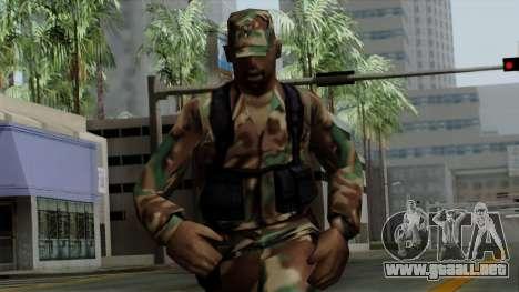 El Africano soldado Estadounidense en el camufla para GTA San Andreas