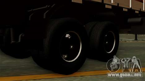 Trailer Cows para GTA San Andreas vista posterior izquierda