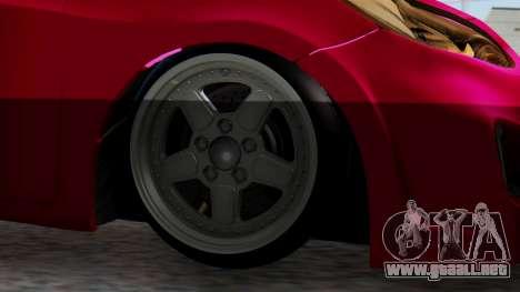 Hyundai Accent Blue para GTA San Andreas vista posterior izquierda