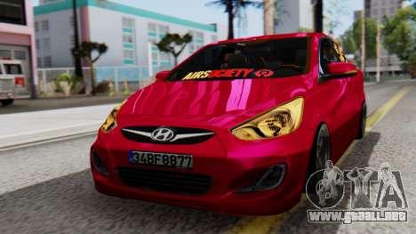 Hyundai Accent Blue para GTA San Andreas
