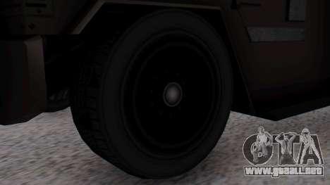 GTA 5 Enforcer S.W.A.T. para GTA San Andreas vista posterior izquierda