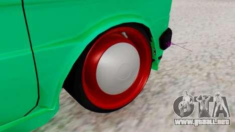 Fiat 126 bis B. O. de la Construcción para GTA San Andreas vista posterior izquierda