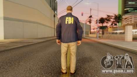 FBI Skin para GTA San Andreas tercera pantalla