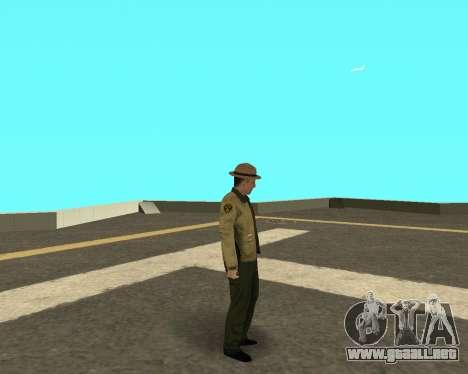La nueva piel de los policías a cabo LVPD para GTA San Andreas tercera pantalla