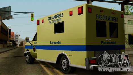 SAFD SAX Rescue Ambulance para GTA San Andreas left