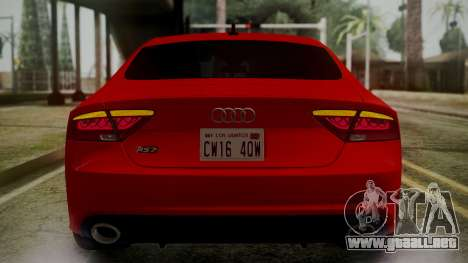 Audi RS7 2014 para el motor de GTA San Andreas