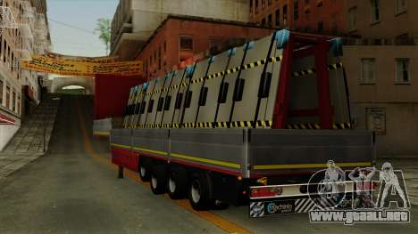 Flatbed3 Red para GTA San Andreas left